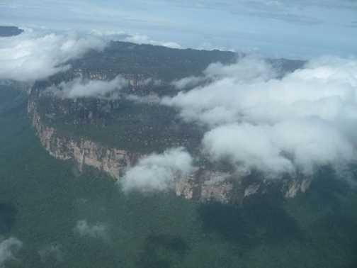 Flying over Canaima National Park, Venezuela