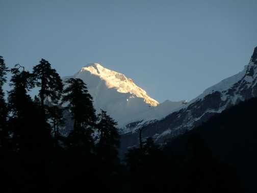 Dawn at Tsokha Campsite 3,050m