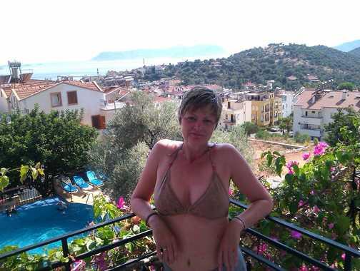 Balcony at Hotel Oreo in Kas