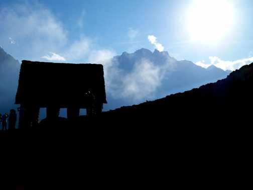 Macchu Picchu Silhouette