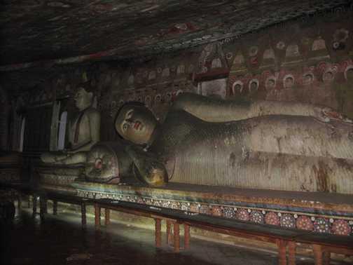 Sleeping Buddha at Sigiriya Temple