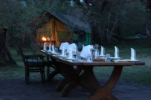 """Kicheche Private Camp """"dinner is served"""""""