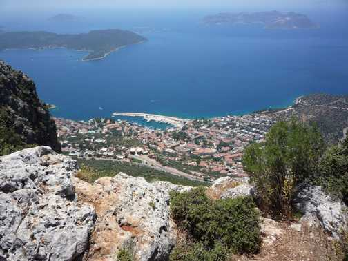 Kas, from above the 'Sleeping Giant'