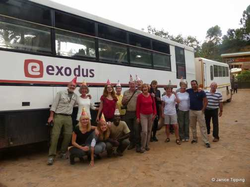 Exodus 40th Birthday - we line up beside our Bus