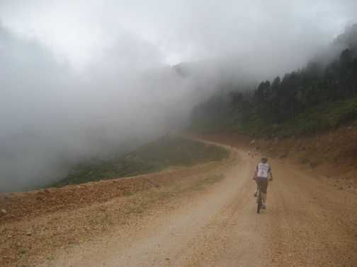 Cycling into the clouds