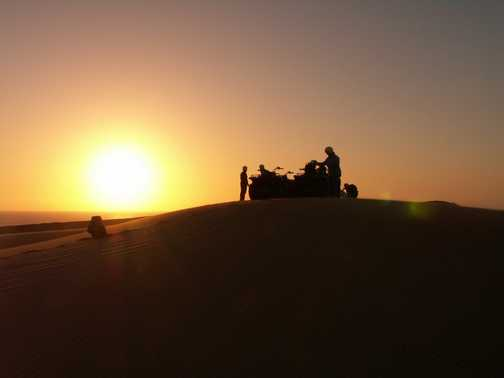 Quad-biking in the Namib Desert