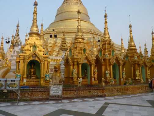 The magnificent Shwedagon Pagoda in Yangon