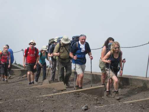 Setting off - Mt Fuji
