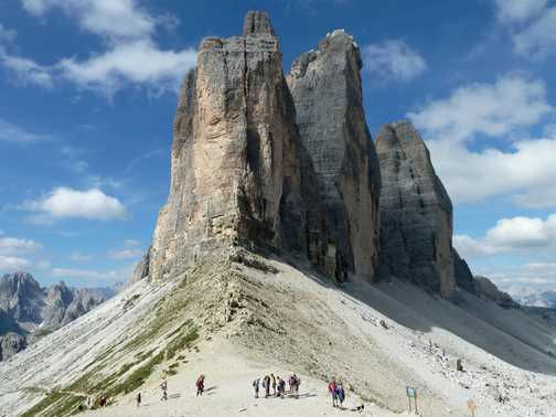 The Tre Cime di Lavaredo in the Dolomites