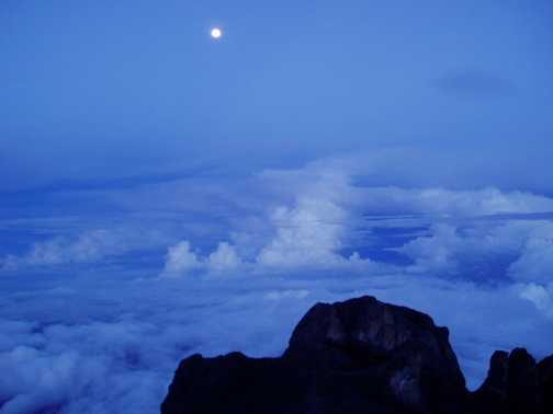 From the summit of Mount Kinabalu