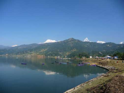 Paragliding provides awesome views of Pokhara