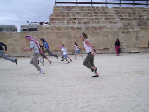 Race in the arena at Jerash