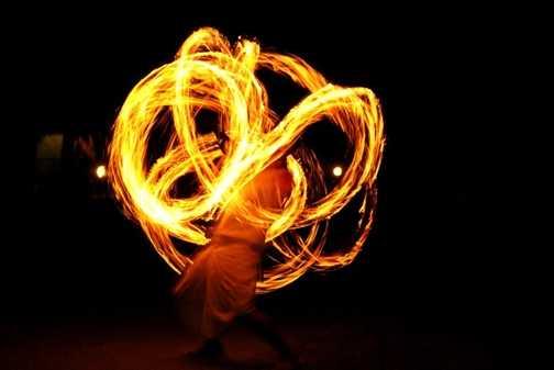 Tharu fire dance