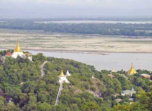 Views above the Irrawady River near Mandalay