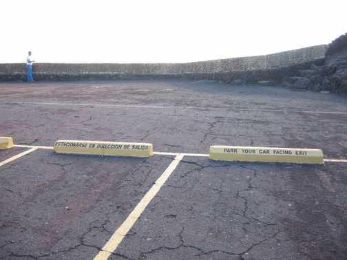 Park facing down in case Masaya erupts!