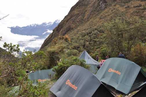inca trail campsite - great views