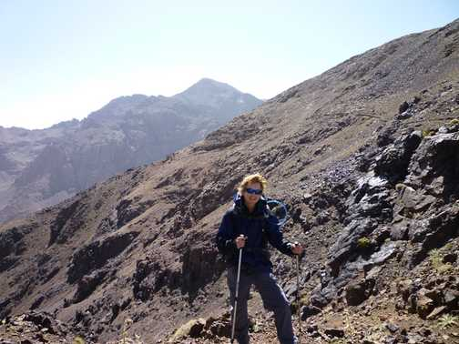 First sight of Toubkal