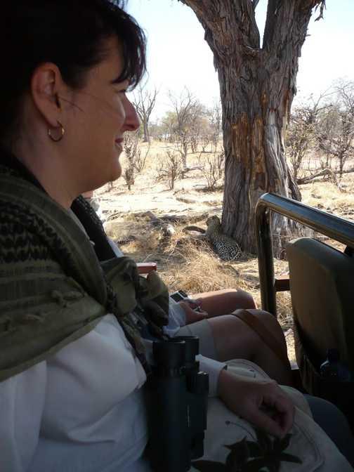 Helen & leopard - Linyanti