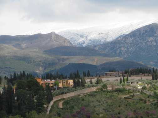 Sierra Nevada from the Alhambra Watchtower