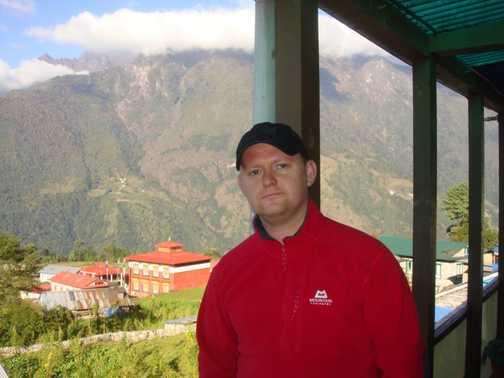 At Lukla on day 1 of trek