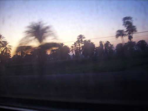 Early morning on the sleeper train