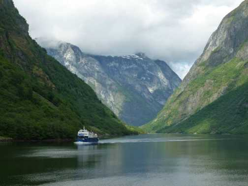 The ferry in the Narrowfjord. You feel so tiny!