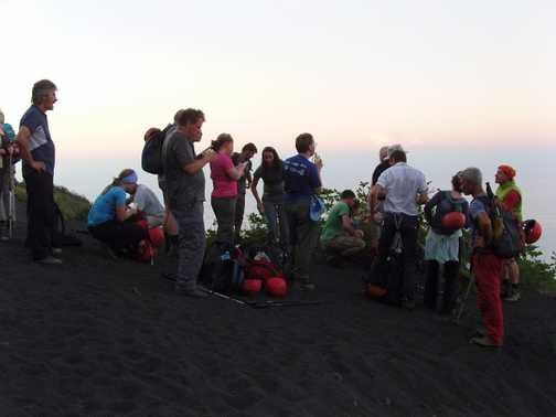 On the slopes of Stromboli