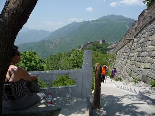 Another angle view of the Great Wall
