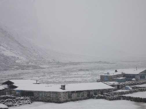 snow storm at Phereche