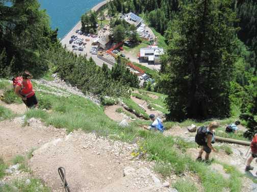 Descent to Rif.E Castiglioni Marmolada