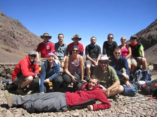 Group at the Toubkal Base Camp