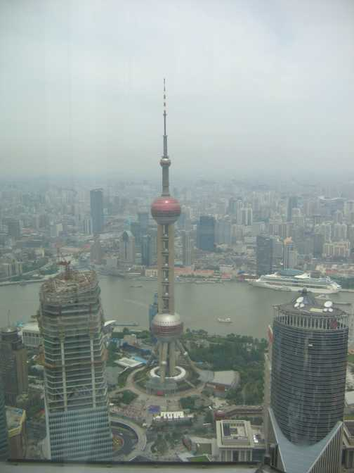 Shanghai Pearl Tower from Jimao Tower
