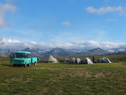 Campsite at Bakkagerði.