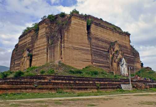 The unfinished Mingun Temple near Mandalay
