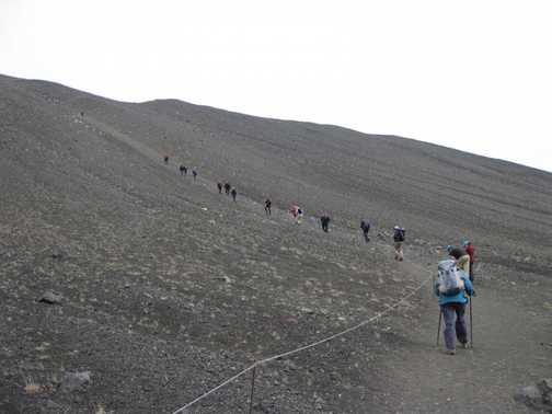 Mt Hverfjall (463 metres) - huge extinct crater.