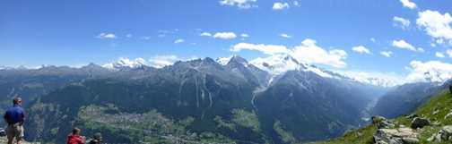 Amazing view on balcony route to Randa