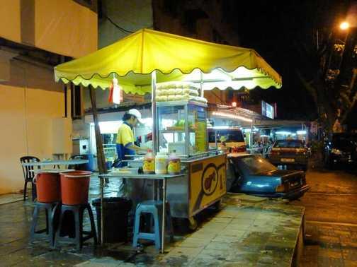 Night Food stall Jalan Imbi Rd, KL Malaysia