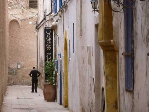 Narrow streets of Essaouira.