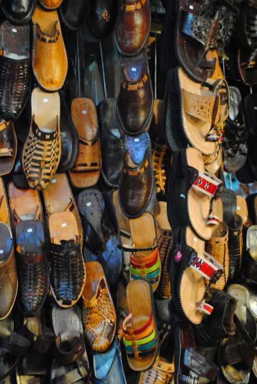 Moroccan shoe shop!