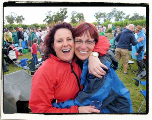 Party time at Rochford winery Yarra Valley Vic Australia. A Day on the Green with the B52's