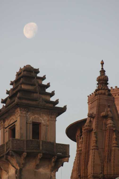 Temples and moon