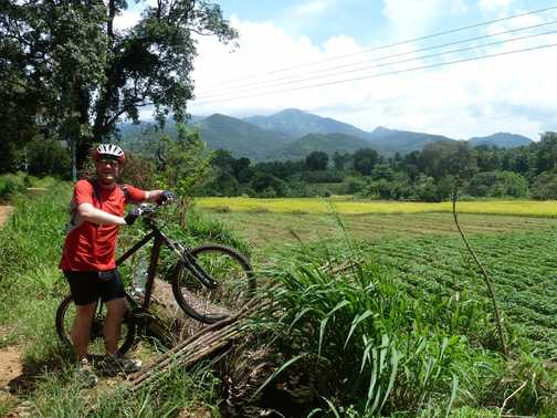 Riding through Kalanduwa Hills area