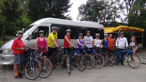 Saying goodbye to our bikes :-(