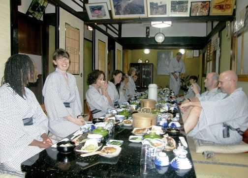 Dinner at a Ryokan