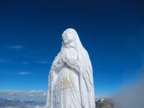 Virgin Mary at the summit of Gran Paradiso