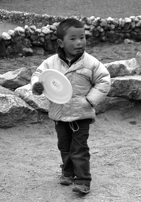 Boy with Brand New Frisbee