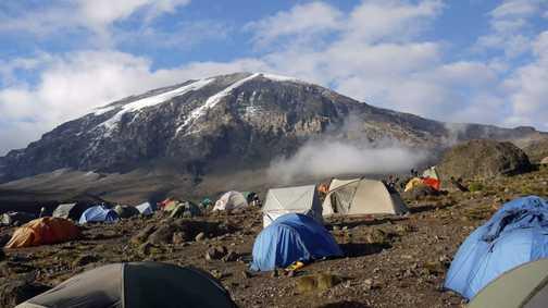 Day 5. Kibo from Karanga camp - only 2 Snowdon's to go!