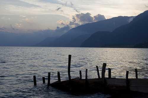 Delapidated jetty near Panajachel