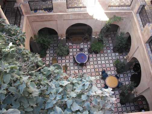 Courtyard in the restaurant