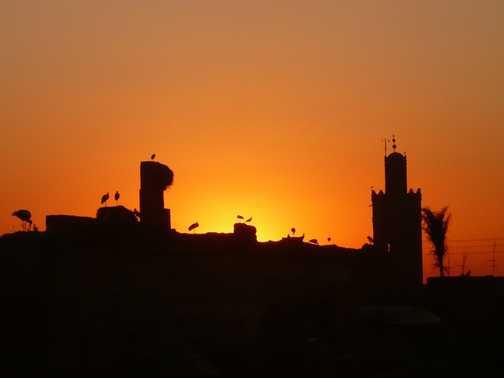 Sunset over Marrakech